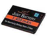 JuBaTec original Akku für Samsung Galaxy Note 3 neo SM-n7505 mit 3400 mAh und NFC ersetzt EBBN750B