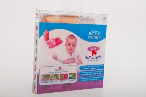 Heat in a Click Flaschenwärmer für Babyflaschen, Heizpad mit Gel, tragbar, wiederverwendbar, sofortige Wärme, Verpackung & Farben können variieren