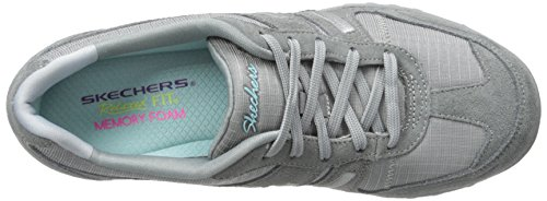 Skechers Breathe Easy Jackpot, Sneakers Basses femme Gris