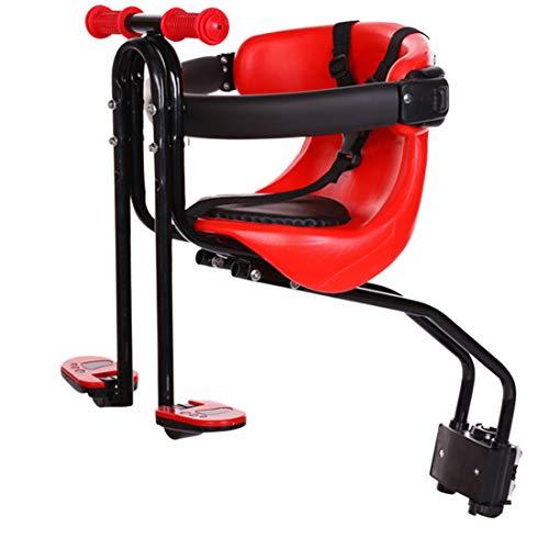 Rolanli Kindersitz, Fahrrad Kind Sitz Fahrradsitz Vorne mit Rückenlehne und Fußpedale für Kinder