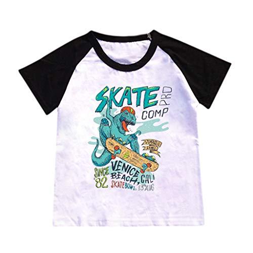 HEETEY Kinder T-Shirt Sommer Oberteile, Kinder-Bady-Jungen-Karikatur-heiße Art Dinosaurier-Muster-T-Shirt Bottoming Shirt Tops Sommerhemd Freizeit ()