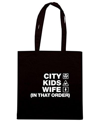 T-Shirtshock - Borsa Shopping WC1125 bristol-city-kids-wife-order-tshirt design Nero