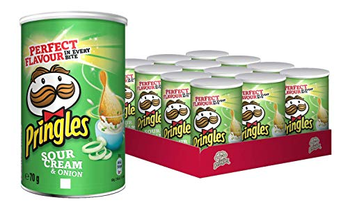Pringles Sour Cream & Onion, 12er Pack (12 x 70 g) (Onion Chips Cream Sour)