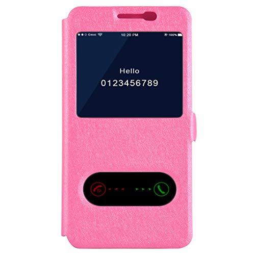 Galaxy J4 2018 Lederhülle Hülle, Originality Rose Fenster Telefonkasten Brieftasche Handyhülle Flip Schutzhülle TPU Bumper Case Magnetverschluss Case für Samsung Galaxy J4 2018 - Rosa