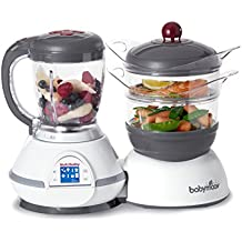 BABYMOOV Nutribaby Multi-Function Baby Food Processor, Steamer, Blender and Steriliser, Cherry
