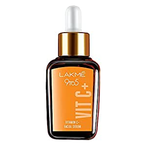 Lakme 9 to 5 Vitamin C+ Face Serum, For Nourished & Bright Skin with Antioxidant Rich Vitamin C & Kakadu Plum Extract, Non Greasy, 30 ml
