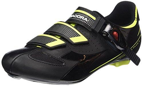 Diadora Trivex Plus Ii, Scarpe da Ciclismo Unisex – Adulto Nero (black/yellow fluo8071)
