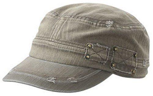 Snap Miltary Cap im Castro Look, Black Army Black Hat