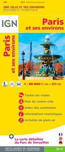 88408 PARIS ET SES ENVIRONS  1/80.000 par IGN