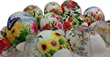 ukrainisches-kunsthandwerk 24 Ostereier. mit Folie bezogen. Gemischte Muster. überwiegend Blumen Aber auch Ornamente. Wetterfest.Kunststoffeier