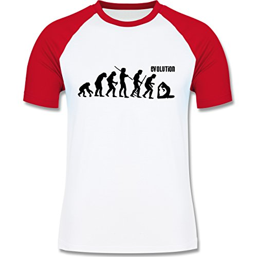 Shirtracer Evolution - Yoga Evolution - Herren Baseball Shirt Weiß/Rot