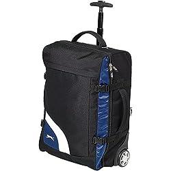 Slazenger - Maleta de ruedas modelo Wembley (35 x 20 x 52cm/Negro/Azul)