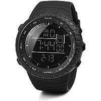 Digital Reloj Deportivo, Logobeing Reloj Militar Hombre Cuarzo España Negro Ejército Digital de Los Deportes Moda (Negro)