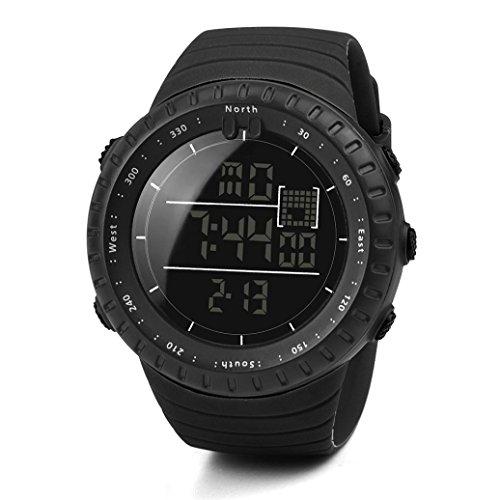 Logobeing Digital Reloj Deportivo, Reloj Militar Hombre Cuarzo España Negro Ejército Digital de Los...