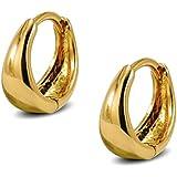Small Tapered Hoop Earrings Womens 9ct Gold Filled Small Huggie Hoop Earrings