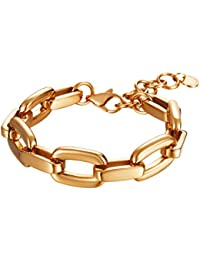 Esprit Collection Señoras brazalete de acero inoxidable chapado en rodio Magna Rose 18 cm P, ELBR11599F180