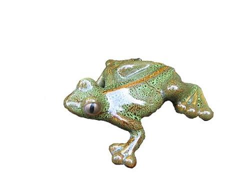 Bosmere W100B Garden Ceramic Lawn Ornament, Tree Frog, Brown