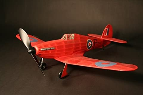 Hawker Hurricane complete vintage model rubber-powered balsa wood aircraft kit that really flies!