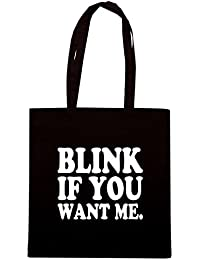 T-Shirtshock - Bolsa para la compra OLDENG00418 blink if you want me light