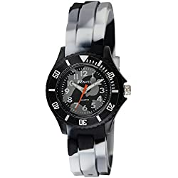 Ravel Children's Easy Read Quartz Watch with Multicolour Dial Analogue Display and Multicolour Silicone Strap R1802.13