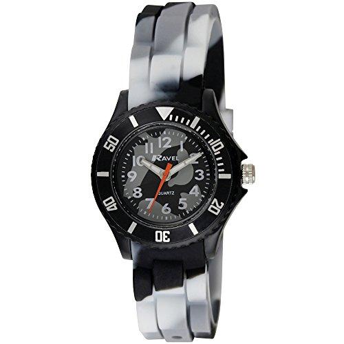 Ravel Kinder einfach Lesen Silikon Armband Uhr mit Zifferblatt Analog-Anzeige- und-Quarz r1802.13