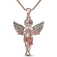 Moda Vorra 14 K chapado en oro rosa y plata de ley 925 para mujer inspirada