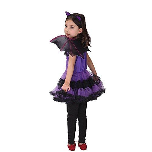 Imagen de jt amigo disfraz de murciélago para niña halloween, 9 10 años alternativa
