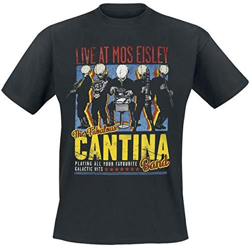 Bravado Herren T-Shirt Star Wars-The Fabulous Cantina Band, (Schwarz 001), Large