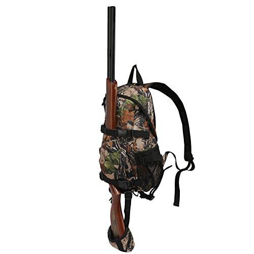 Tourbon Petite Chasse Sac à dos Jour Lot Rusack avec Fusil Pistolet support-Vert, camouflage, 24*14*42cm