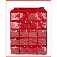 Kuber Industries Fabric Wall Hanging Multipurpose Daily Use Kit Dressing Kit, Make Up Organizer - Maroon