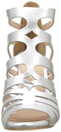 Unisa Wandeo_LMT, Sandales Bout Ouvert Femme Argent (Silver)