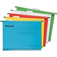 Esselte 93042 Portaetichette con etichette, Cartoncino rinforzato, Multicolore, 345 x 240, Confezione da 10 cartelle