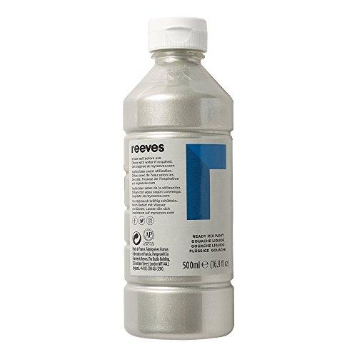 Reeves 4551617 Ready Mix Flasche, 500ml, flüssige Tempera der Spitzenklasse, intensive Farbe - silber