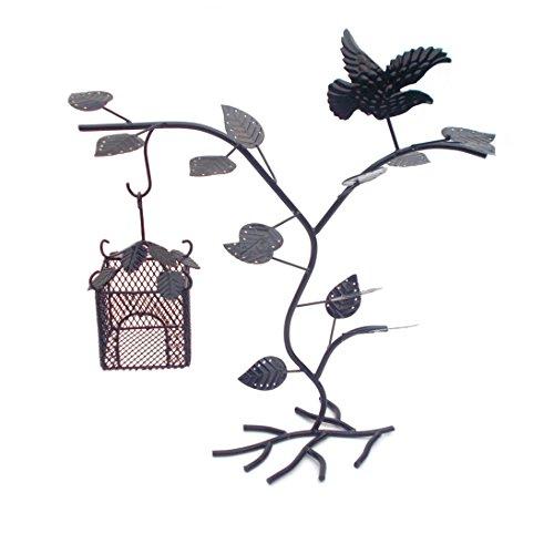 Supporto gioielli nido di uccello orecchini gancio collana braccialetto gioielli albero Organizer Display Stand