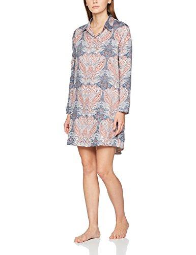 Skiny Moonlight Sparkle Sleep Sleepshirt Langarm, Camicia da Notte Donna, (Slateblue Batik 1119), 38