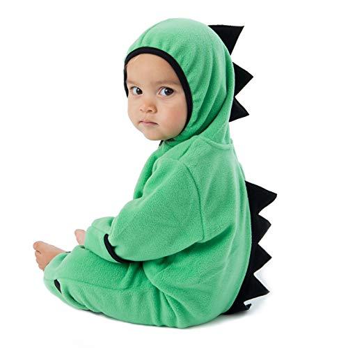Funzies Fleece leichte Jacke - Winter Pyjama Oberbekleidung für Baby 3-6 monate Grüner Dino