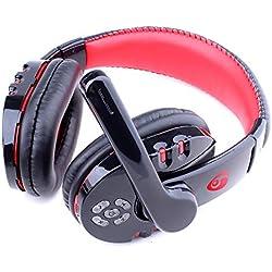 Casque Audio Gaming PS4, Casque Gamer avec Micro Premium Anti Bruit Audio Stéréo Basse avec LED Lampe Jeux Vidéo Gaming Compatible pour PC Xbox One Laptop Tablette (Noir)