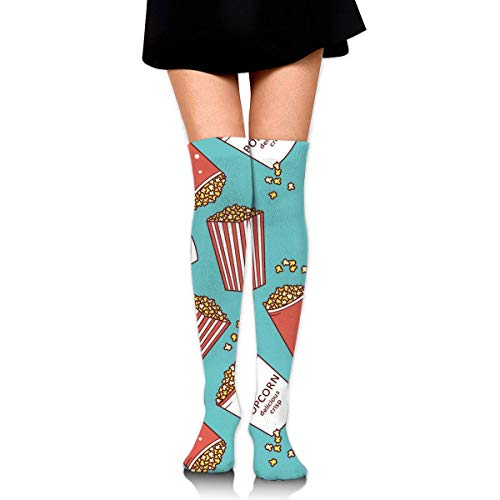 Women Teens Girls Over Knee Thigh High Boots Socks Tube Leg Warmers Stocking Cotton Cosplay Long Comfortable Leggings Planet Moon Stars Rocket Outer Space Sock - Purple Knee High Boots