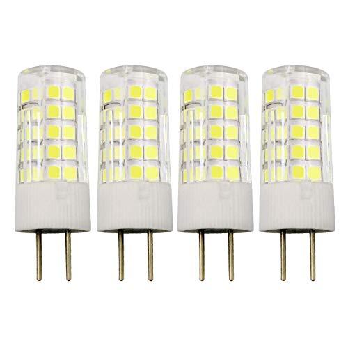G6.35 Halogen Bi-pin (GY6.35 4W LED Lampe G6.35/GY6.35 Bi-Pin Sockel T4 JC Typ 12V Kaltweiß 6000K 40W Halogen Equivalent, 4er Pack [MEHRWEG])
