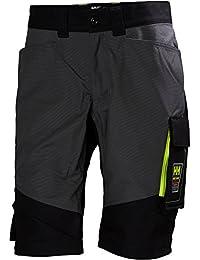 """Helly Hansen 77402_ 999-c48trabajo pantalones cortos """"Aker tamaño 48en color negro/gris"""
