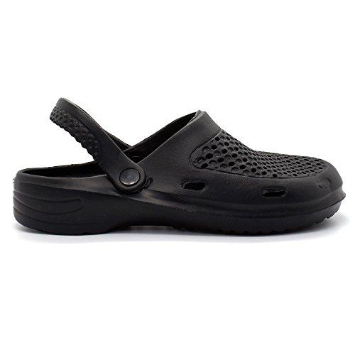 London Footwear , Sandales Compensées homme Noir