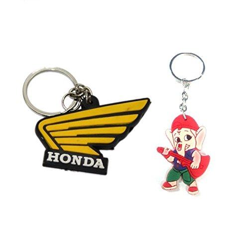 Parrk Rubber Honda Bent Gate With Bal Ganesh Key Chain  available at amazon for Rs.175