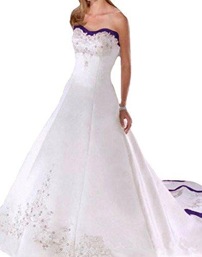 O.D.W Gestickt Damen Vintage Hochzeitskleider A-Linie Lange Retro Gotisch Brautkleider...