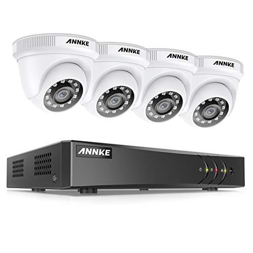 ANNKE 8CH système de sécurité No HDD 1080P TVI H.265+ DVR avec 4 Caméras de vidéosurveillance 2MP...