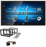 caraudio24 JVC KW-M24BT 2DIN Bluetooth MP3 AUX USB Autoradio für Alfa Romeo 159 Spider Brera ab 05 Navi