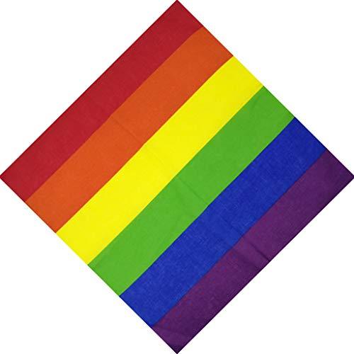 VIccoo Stirnband Bandana, Festival Regenbogen Bunte Sieben Streifen 50x50 cm Unisex Baumwolle Einstecktuch Schal Stirnband Bandana Homosexuell Parade Armband Krawatte - 2#