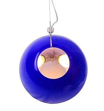 Abat-jour en verre Globe terrestre Bleu Plafonnier Pendentif Plafonnier 2lumières Diamètre 32cm