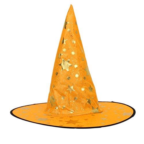 feiliandajj Frauen Erwachsene Hexe Hut für Halloween-Kostüm Zubehör, Kinder Herren damen, Orange