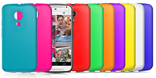 Dial-seife (Cotechs SoftSkin 10 PACK LILA ROT GRÜN BLAU GELB TÜRKIS SCHWARZ WEISS ORANGE PINK Silikon-Schutz Armour / Case / Skin / Cover / Shell für Motorola Moto G 2 2nd Generation Smartphone)