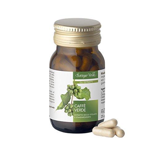 Bottega Verde - Gli Estratti - Integratore Alimentare al Caffè Verde - Favorisce Azione Tonica e Sostegno per il Metabolismo - Confezione da 50 capsule